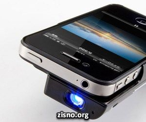 Mini projetor para iPhone 4 e 4S
